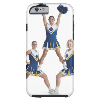three teenage caucasian female cheerleaders in iPhone 6 case