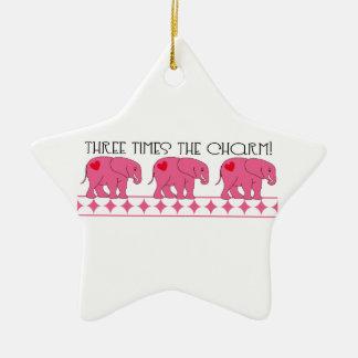 Three Times The Charm Christmas Tree Ornament