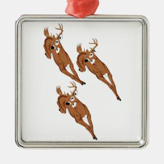Three to Run Metal Ornament