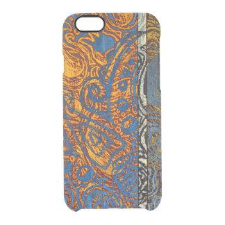 Three Tone Blue Jean Swirl Clear iPhone 6/6S Case