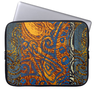 Three Tone Blue Jean Swirl Laptop Sleeve