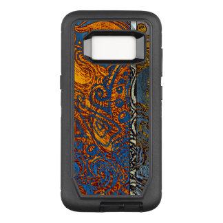 Three Tone Blue Jean Swirl OtterBox Defender Samsung Galaxy S8 Case
