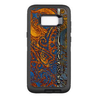 Three Tone Blue Jean Swirl OtterBox Defender Samsung Galaxy S8+ Case
