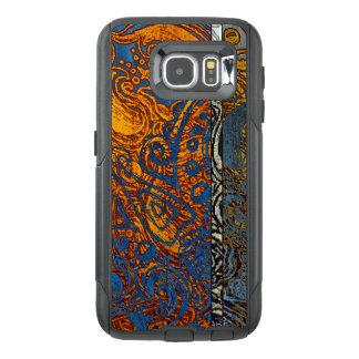 Three Tone Blue Jean Swirl OtterBox Samsung Galaxy S6 Case