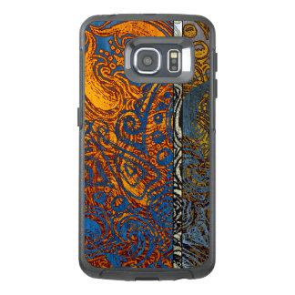 Three Tone Blue Jean Swirl OtterBox Samsung Galaxy S6 Edge Case