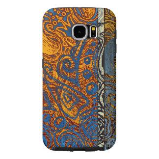 Three Tone Blue Jean Swirl Samsung Galaxy S6 Cases