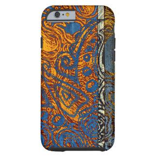 Three Tone Blue Jean Swirl Tough iPhone 6 Case