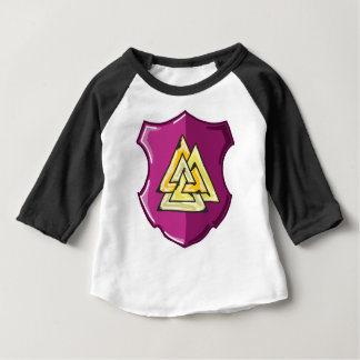 Three Triangles Shield Sketch Baby T-Shirt