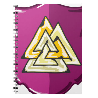 Three Triangles Shield Sketch Notebook