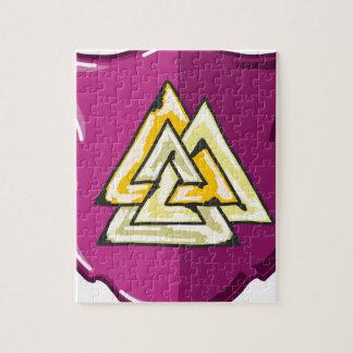 Three Triangles Shield Sketch Puzzles