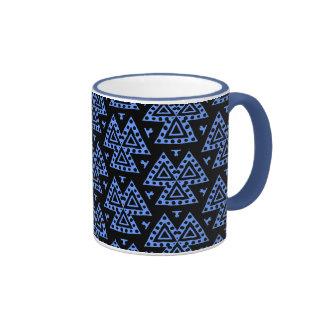 Three Triangles v1 - Blue Mugs