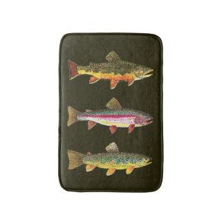 Three Trout Decor Bath Mat