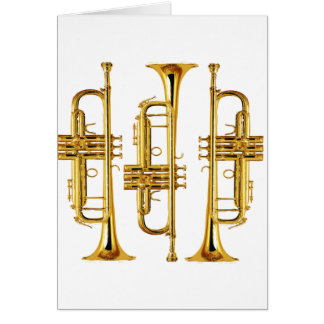Three Trumpets Greeting Card