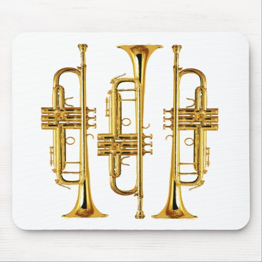 Three Trumpets Mouse Pads