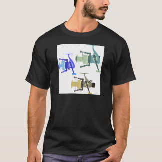 Three types of spinning reels vector illustration T-Shirt