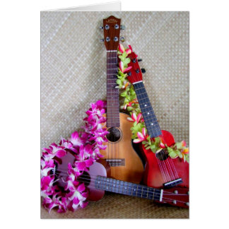 Three Ukuleles Card