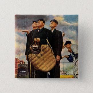 Three Umpires 15 Cm Square Badge