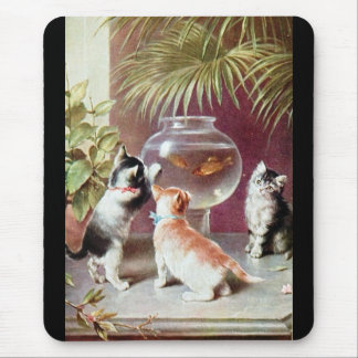 Three Victorian Kittens Mouse Pad