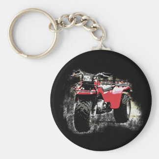 Three Wheeled ATC Red Trike Motorbike Key Ring