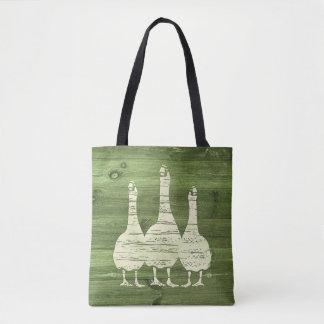 Three White Geese Tote Bag