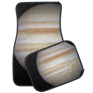 Three White, Oval-Shaped Storms on Jupiter.ai Floor Mat