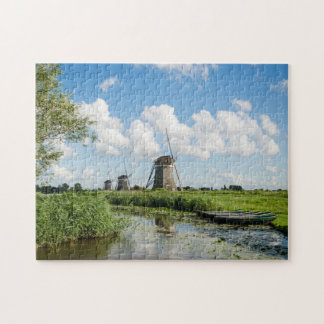 Three windmills and a canal jigsaw puzzle