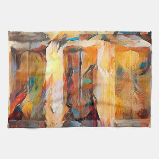 Three Windows of Emotion, abstract expression Tea Towel