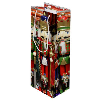 Three Wise Crackers - Nutcracker Soldiers Wine Gift Bag