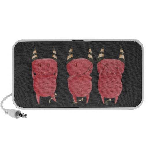 Three Wise Devils - Little Devils art Mp3 Speakers