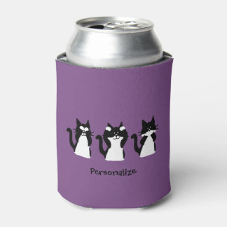 Three Wise Kitties Can Cooler