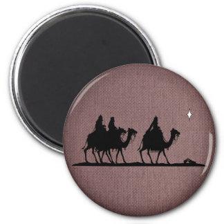 Three Wise Men 6 Cm Round Magnet