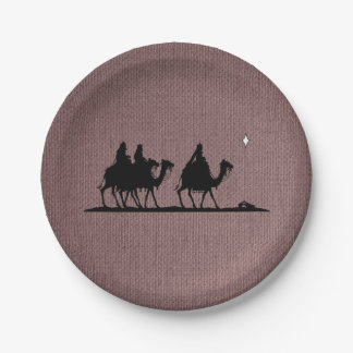 Three Wise Men 7 Inch Paper Plate