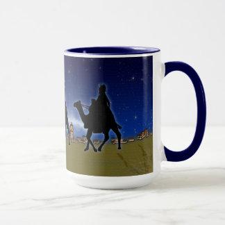 Three Wise Men & Bethlehem Christmas Xmas Design Mug