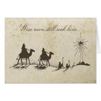 Three Wise Men Greeting Card