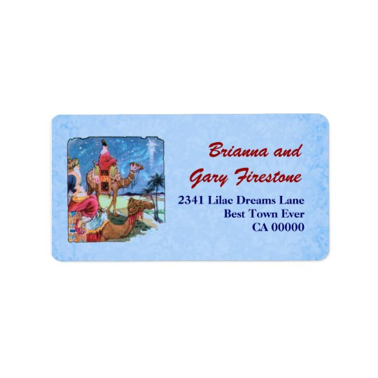 Three Wise Men Christmas Address Label