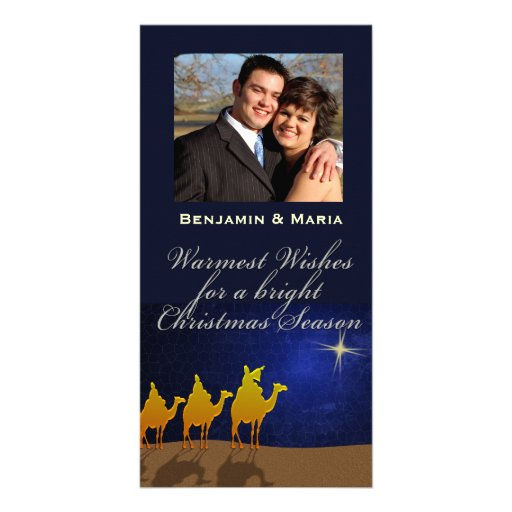 Three Wise Men Christmas Personalized Photo Card