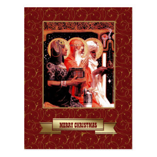Three Wise Men. Christmas Postcards