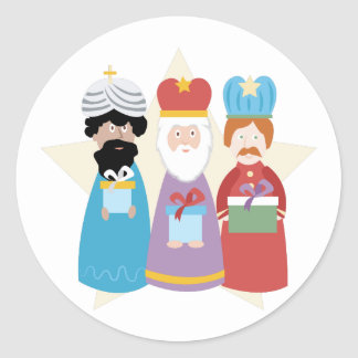 Three Wise Men Classic Round Sticker