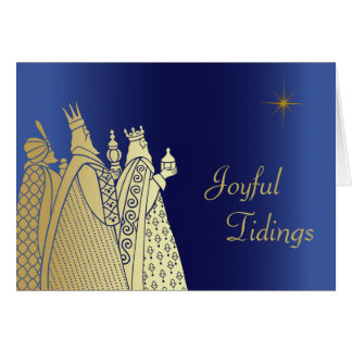 Three Wise Men Custom Christmas Greeting Card
