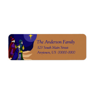 Three Wise Men Holiday Avery Label Return Address Label