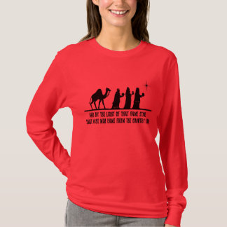 Three Wise Men Ladies Christian Christmas LS Shirt