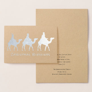 Three Wise Men Magi Christmas Blessings Foil Card