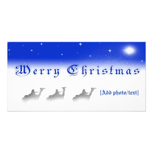 Three Wise Men Merry Christmas Photo Card
