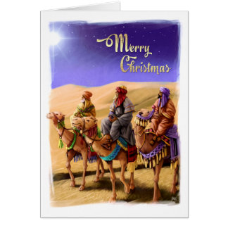 Three Wise Men Painting Christmas Cards