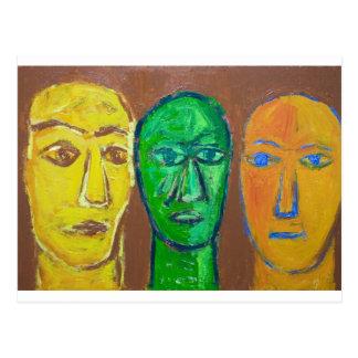 Three Wise Men (portrait expressionism) Postcard