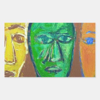 Three Wise Men (portrait expressionism) Rectangular Sticker