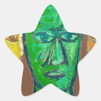 Three Wise Men (portrait expressionism) Star Sticker