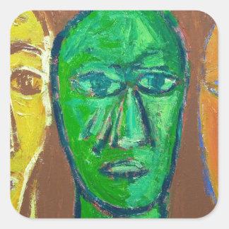Three Wise Men (portrait expressionism) Square Sticker