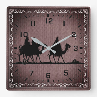 Three Wise Men Square Wall Clock