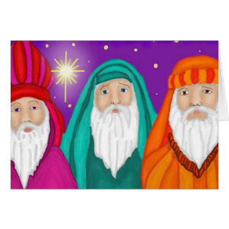Three Wise Men Watercolor Christmas Card